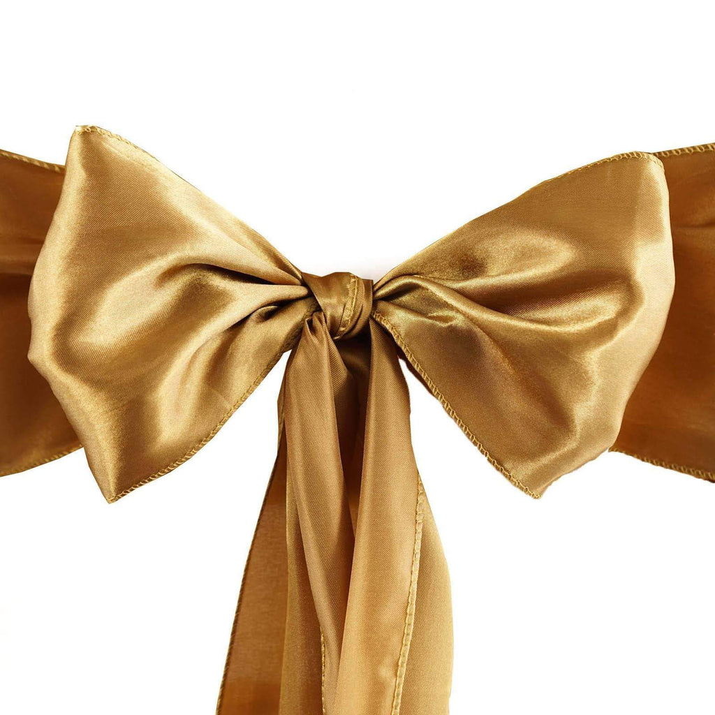 5pc x Satin Gold Chair Sash