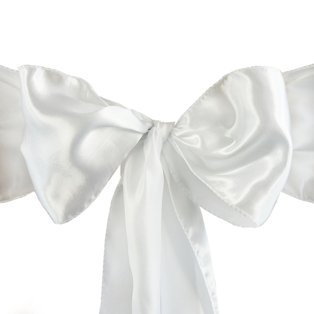 5pc x Satin White Chair Sash