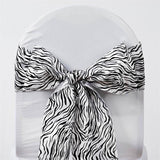 5pc x Abstract Chair Sash - Black / White