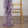 Violet Amethyst Chiffon Curly Chair Sash
