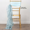Ice blue Chiffon Curly Chair Sash