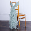 Dusty Sage Chiffon Curly Chair Sash