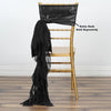 Chiffon Curly Chair Sash - Black