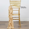 Chiffon Curly Chair Sash - Champagne