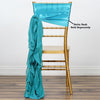 Turquoise Chiffon Curly Chair Sash