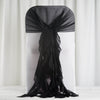 1 Set Black Chiffon Hoods With Ruffles Willow Chiffon Chair Sashes