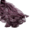 1 Set Eggplant Chiffon Hoods With Ruffles Willow Chiffon Chair Sashes