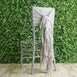 1 Set Silver Chiffon Hoods With Ruffles Willow Chiffon Chair Sashes