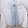 5 Pack | 6 Ft Ice Blue DIY Premium Chiffon Designer Chair Sashes