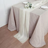 6 FT | Ivory Premium Chiffon Table Runner