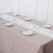 6 FT | White Premium Chiffon Table Runner