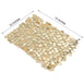 5 pack - Champagne - Big Payette Sequin Round Chair Sashes