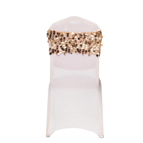 5 pack - Gold - Big Payette Sequin Round Chair Sashes