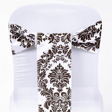 5pc x Flocking Chair Sash - Chocolate