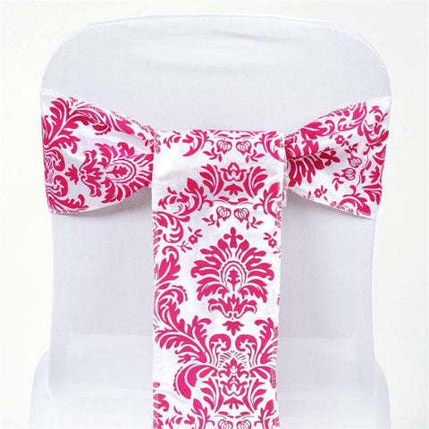 5pc x Flocking Chair Sash - Fushia