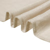 5 Pack | Beige Linen Chair Sashes, Slubby Textured Wrinkle Resistant Sashes