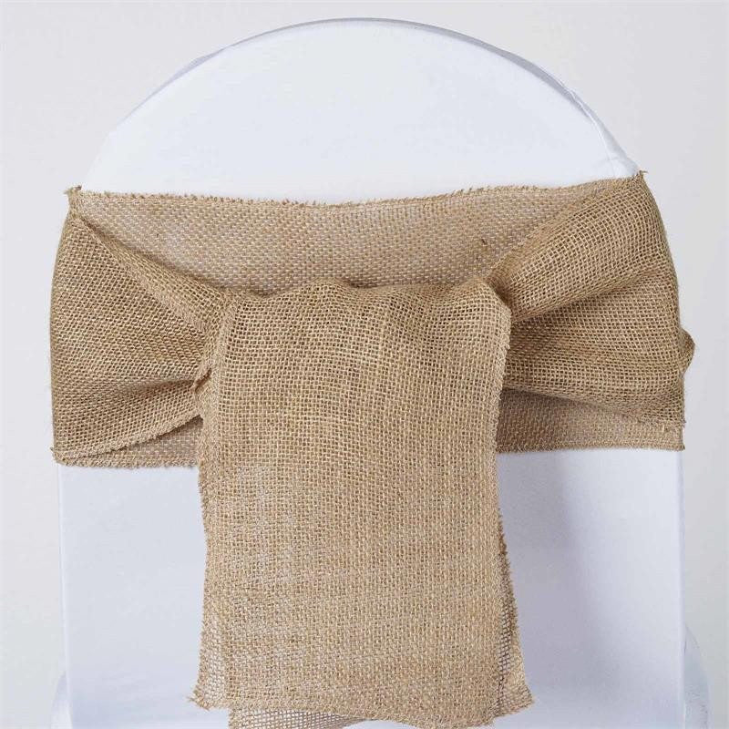 CHAMBURY CASA Splendid Burlap Chair Sash Natural Tone