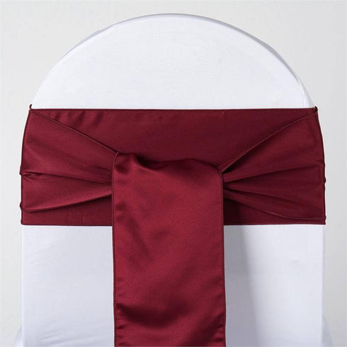 5pc x Lamour Burgundy Chair Sash