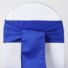 5pc x Lamour Royal Blue Chair Sash