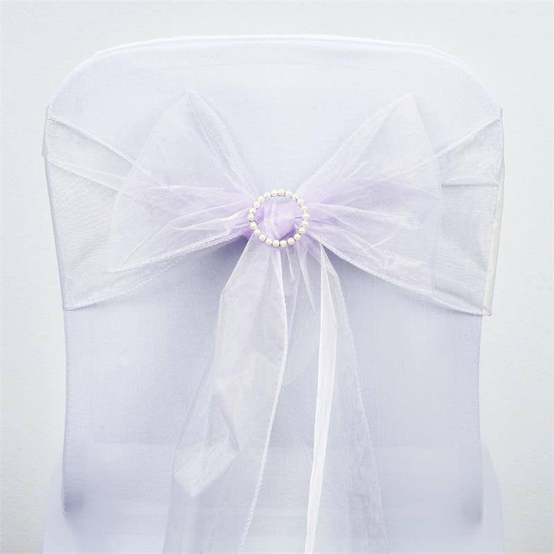 5pc x Lavender Organza Chair Sash