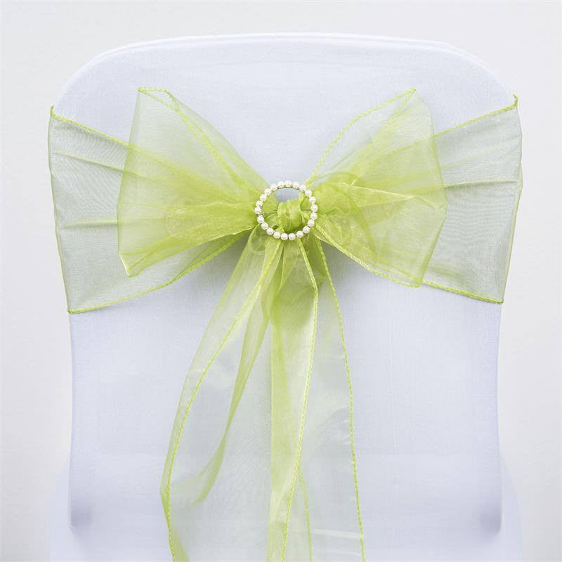 5pc x Sage Organza Chair Sash