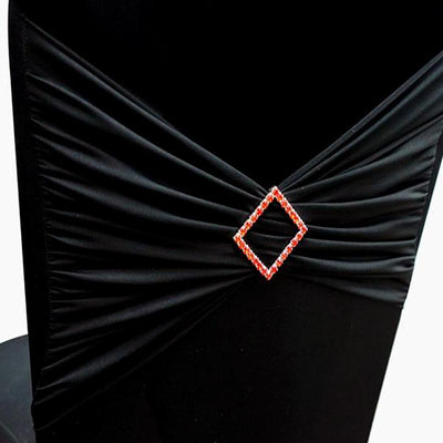 "Diamond Chair Buckle Sash Pins - 2"" x 2"" -  Red"