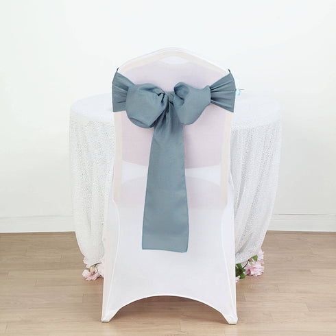 5 PCS | Dusty Blue Polyester Chair Sash