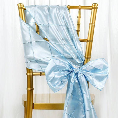5pc x Serenity Blue Pintuck Chair Sash