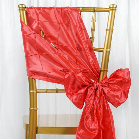 5pc x Coral Pintuck Chair Sash