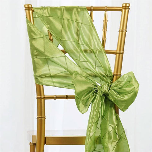 5pc x Apple Green Pintuck Chair Sash