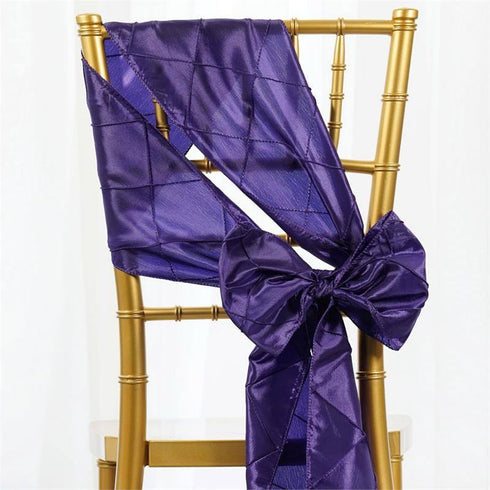 5pc x Purple Pintuck Chair Sash