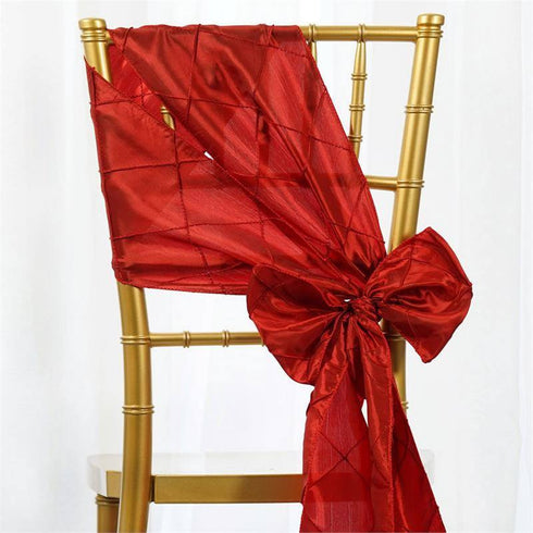 5pc x Red Pintuck Chair Sash
