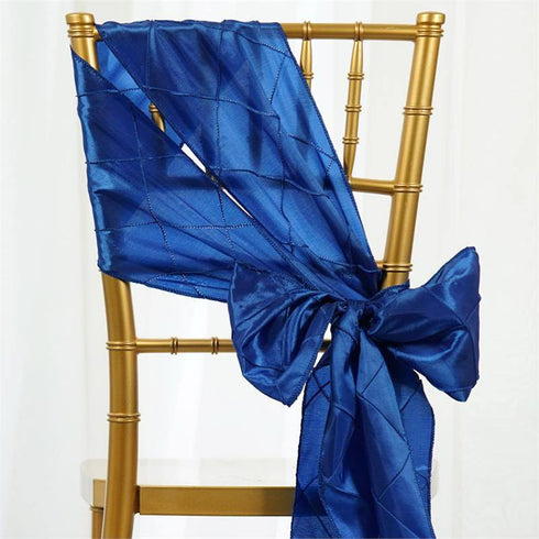 5pc x Royal Blue Pintuck Chair Sash