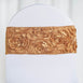 "5 pack | 6""x14"" Gold Satin Rosette Spandex Stretch Chair Sash"