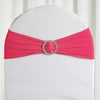 "5 pack | 5""x14"" Fushia Spandex Stretch Chair Sash with Silver Diamond Ring Slide Buckle"