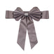 Charcoal Grey | Reversible Chair Sashes with Buckle | Double Sided Pre-tied Bow Tie Chair Bands