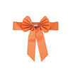 5 Pack | Orange | Reversible Chair Sashes with Buckle | Double Sided Pre-tied Bow Tie Chair Bands | Satin & Faux Leather