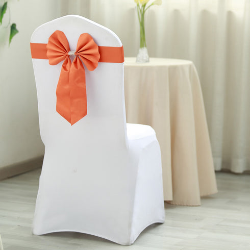 Reversible Chair Sashes with Buckle | Double Sided Pre-tied Bow Tie Chair Bands