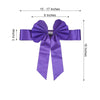 5 Pack | Purple | Reversible Chair Sashes with Buckle | Double Sided Pre-tied Bow Tie Chair Bands | Satin & Faux Leather