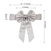 5 Pack | Silver | Reversible Chair Sashes with Buckle | Double Sided Pre-tied Bow Tie Chair Bands | Satin & Faux Leather