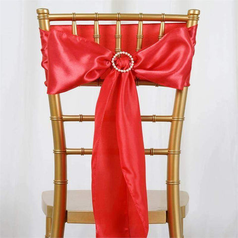 5pc x Satin Coral Chair Sash