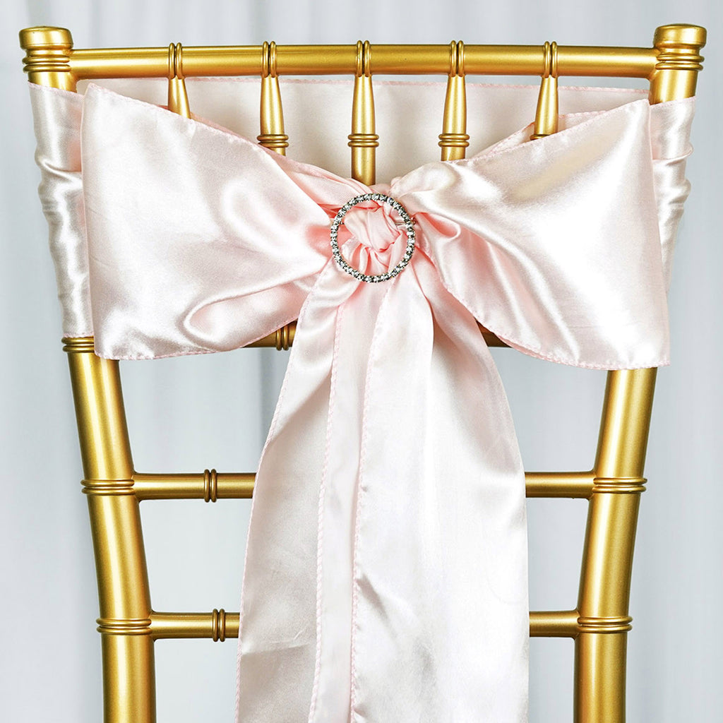25pcs-SATIN-Chair-Sashes-Tie-Bows-Catering-Wedding-Party-Decorations-6-x106-034 thumbnail 9