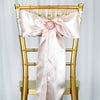 Satin Chair Sash - Blush - 5pcs