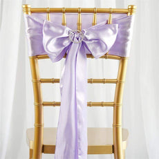 5pc x Satin Lavender Chair Sash