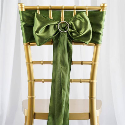 Satin Chair Sash | Moss/Willow | Event Decoration Supplies | 5pcs | 6 x 106""