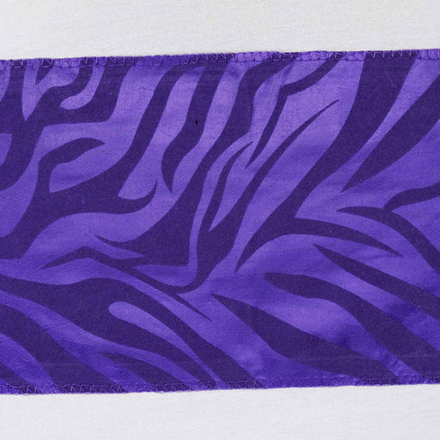 5pc x Zebra Safari Chair Sash - Purple / Purple