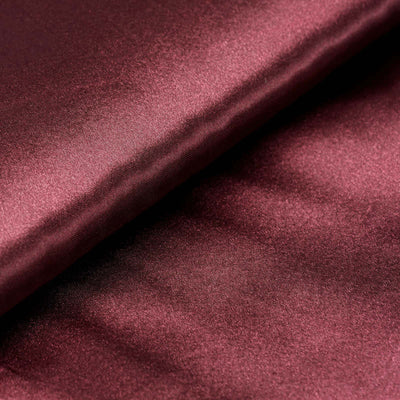 "10 Yards x 54"" Burgundy Satin Fabric Bolt"