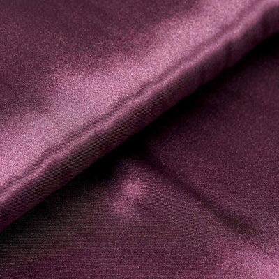 "10 Yards x 54"" Eggplant Satin Fabric Bolt"