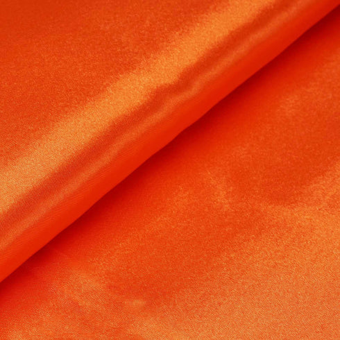 "10 Yards x 54"" Orange Satin Fabric Bolt"