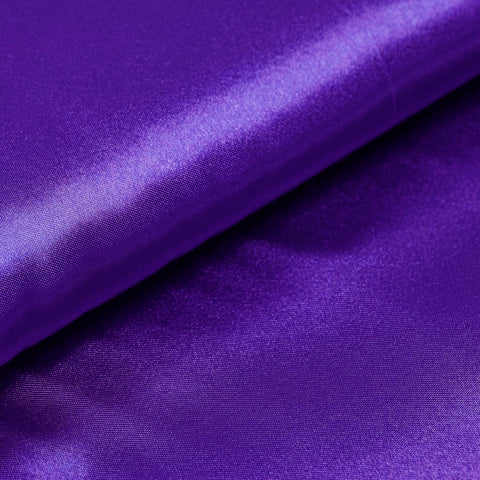 "Wedding Party Bridal Dress Decorative Satin Fabric Bolt By Yard  PURPLE - 54"" x 10 Yards"